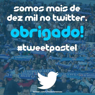 10 mil seguidores no Twitter