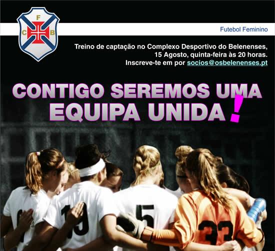 Vamos ter futebol feminino a partir desta época