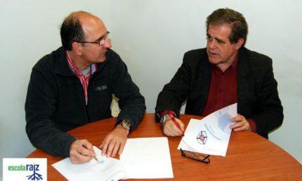 Celebração de Protocolo cooperação com a Escola Raiz