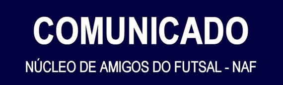 Futsal: Comunicado