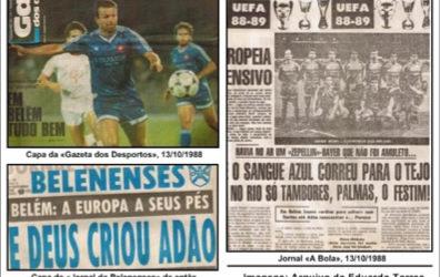 12 de Outubro de 1988 – Belenenses elimina campeão em título da Taça UEFA com dupla vitória