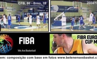 03/11/2004 – Estreia nas Competições Europeias de Basquetebol (Taça FIBA)