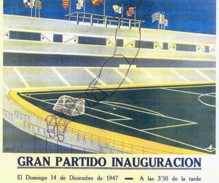 1947 – Belenenses inaugura Estádio do Real Madrid, a convite deste
