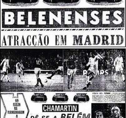 1972 – Belenenses presente na homenagem a Gento (hexacampeão europeu) e nas Bodas de Prata do Estádio do Real Madrid