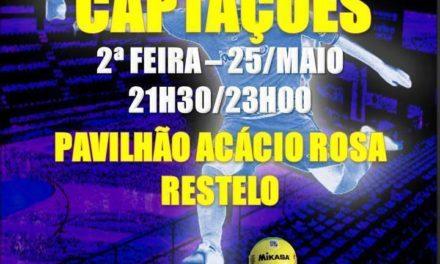 Captações para os Juvenis de Futsal