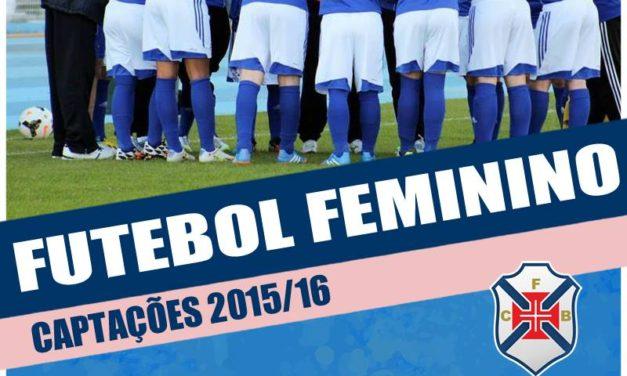 Futebol Feminino: Treinos de Captação a 19 e 21 de Agosto