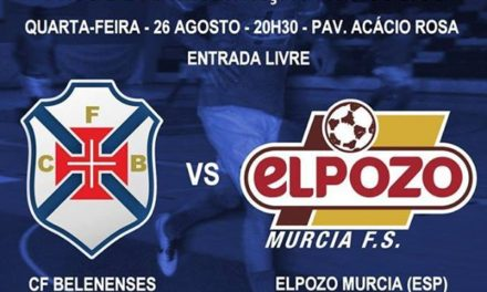 Elpozo/Murcia na apresentação aos sócios da equipa de Futsal