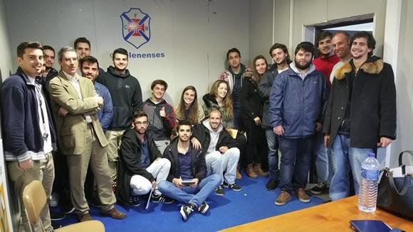 Estudantes da Universidade Europeia no Restelo