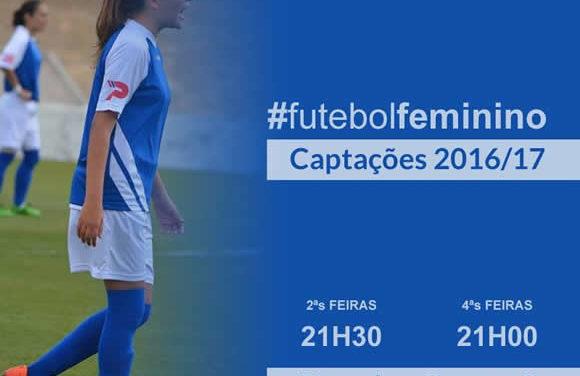 Futebol Feminino: treinos de captação