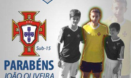 Oliveira e Garrido chamados à selecção de Sub-15