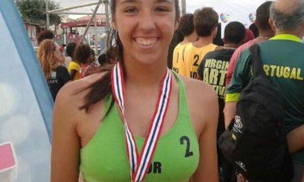 Beatriz Rodrigues no Europeu Sub-18 de Praia