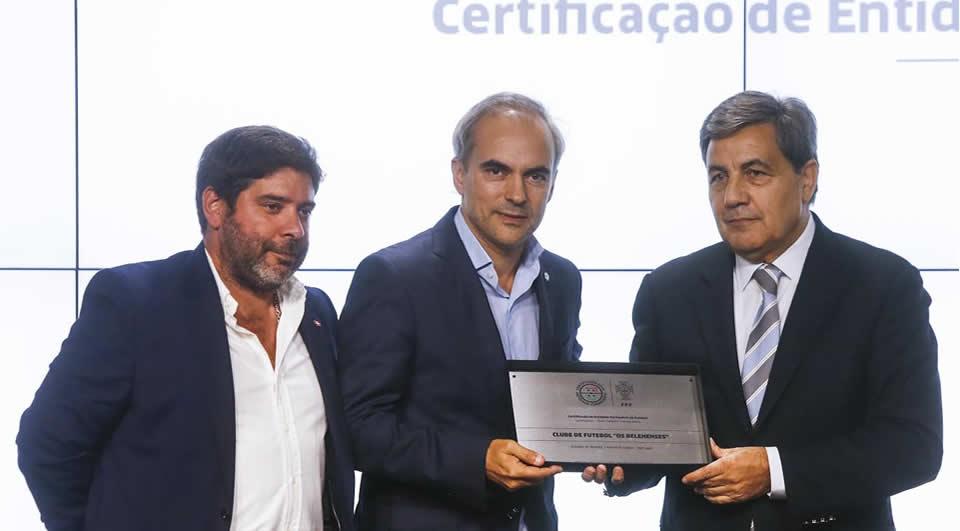 Belenenses recebe certificação como entidade formadora