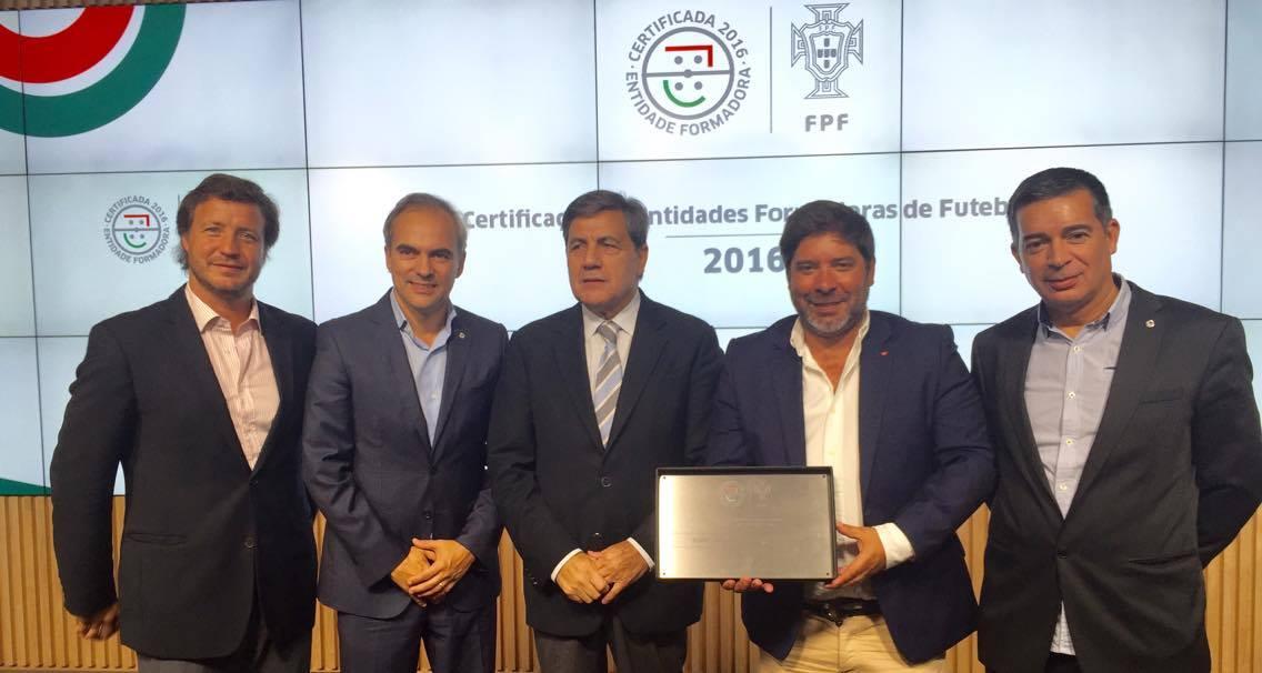 Belenenses - ertificado de Entidade Formadora no âmbito da certificação UEFA