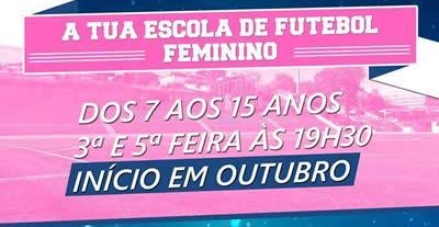 Chegou a Escola de Futebol Feminino