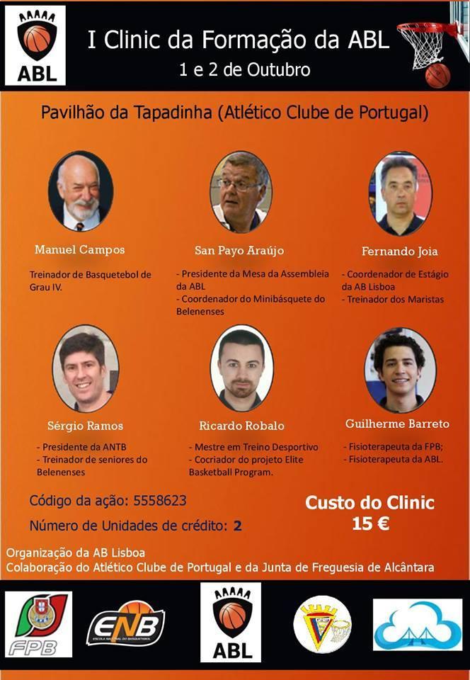 1º Clinic da Formação da Associação de Basquetebol de Lisboa