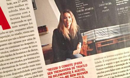 Anaïs Moniz em entrevista ao Record