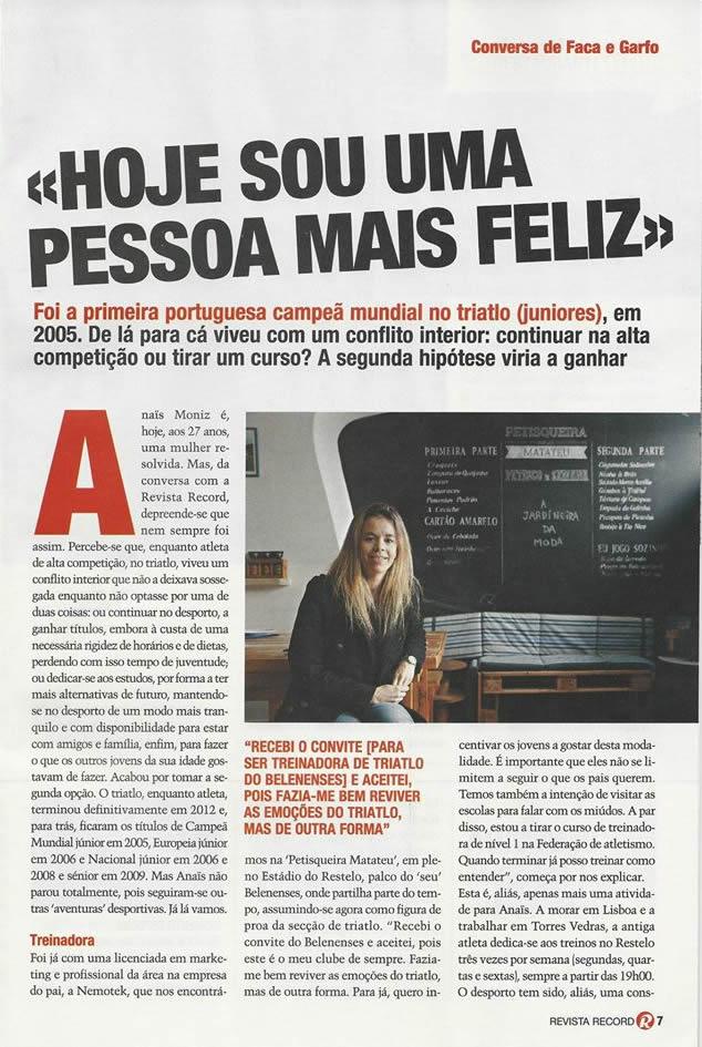 Anaïs Moniz - Record