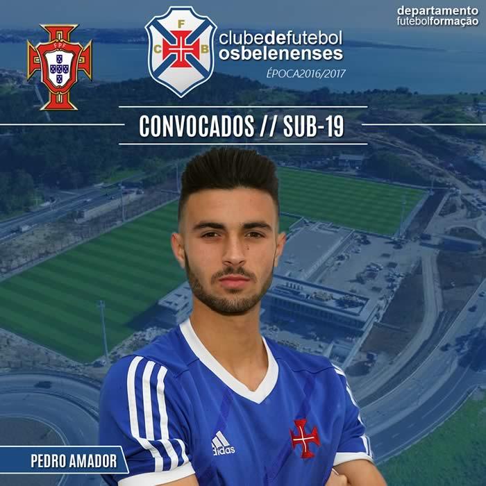 Pedro Amador Selecção Sub-19
