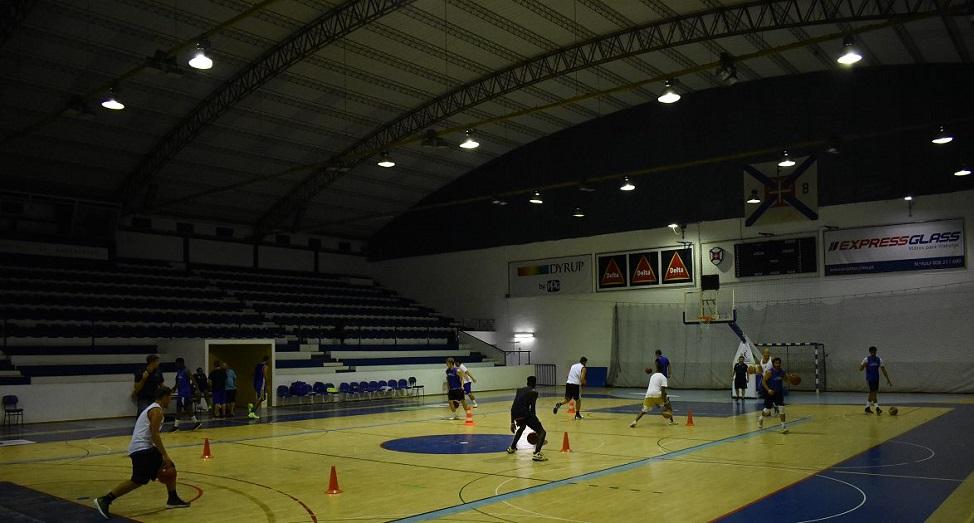 Equipa sénior de basquetebol realizou o primeiro treino