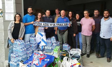 """Núcleo """"Fúria Azul"""" levou solidariedade azul a Tondela"""