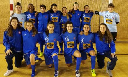 Futsal feminino sénior mantém registo vitorioso
