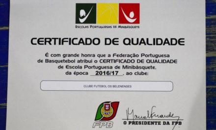 Formação do Basquetebol com qualidade certificada