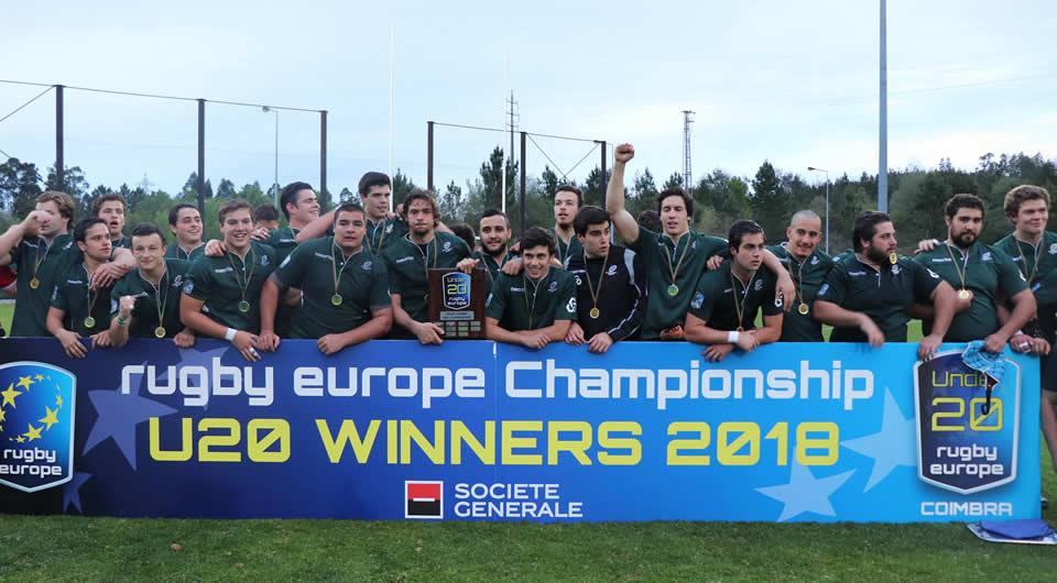 Cinco atletas azuis contribuem para a vitória de Portugal no Europe Championship U20