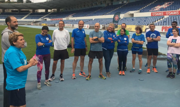 Aurora Cunha em treino aberto do Atletismo do Belenenses