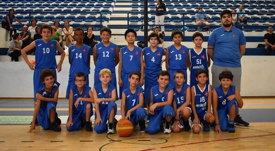 Sub-12 de Basquetebol vencem as Olisipíadas
