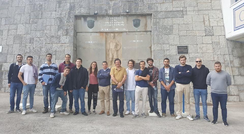 Alunos da Universidade Europeia de visita ao Restelo