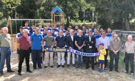 Equipa de futebol e Direcção do Belenenses em visita à UD Vilamaiorense