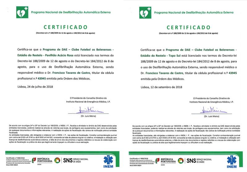 Certificação DAE