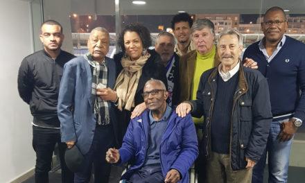 Vicente, Carvalho e Alector Cardoso no apoio ao Belenenses no Restelo