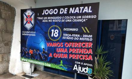 O futebol solidário chega esta noite ao Restelo com entrada livre