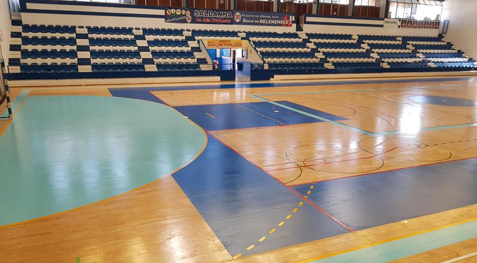 Intervenção no piso do Pavilhão Acácio Rosa