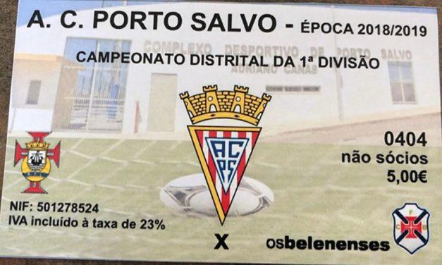 Já à venda no Restelo os bilhetes para a deslocação a Porto Salvo