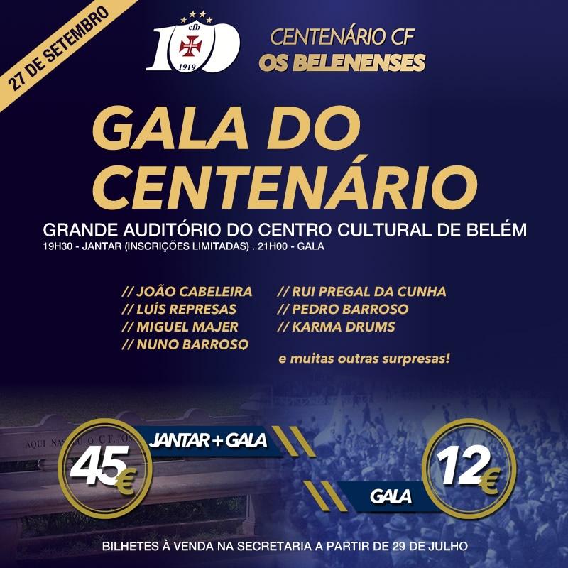Centenário | Jantar e Gala