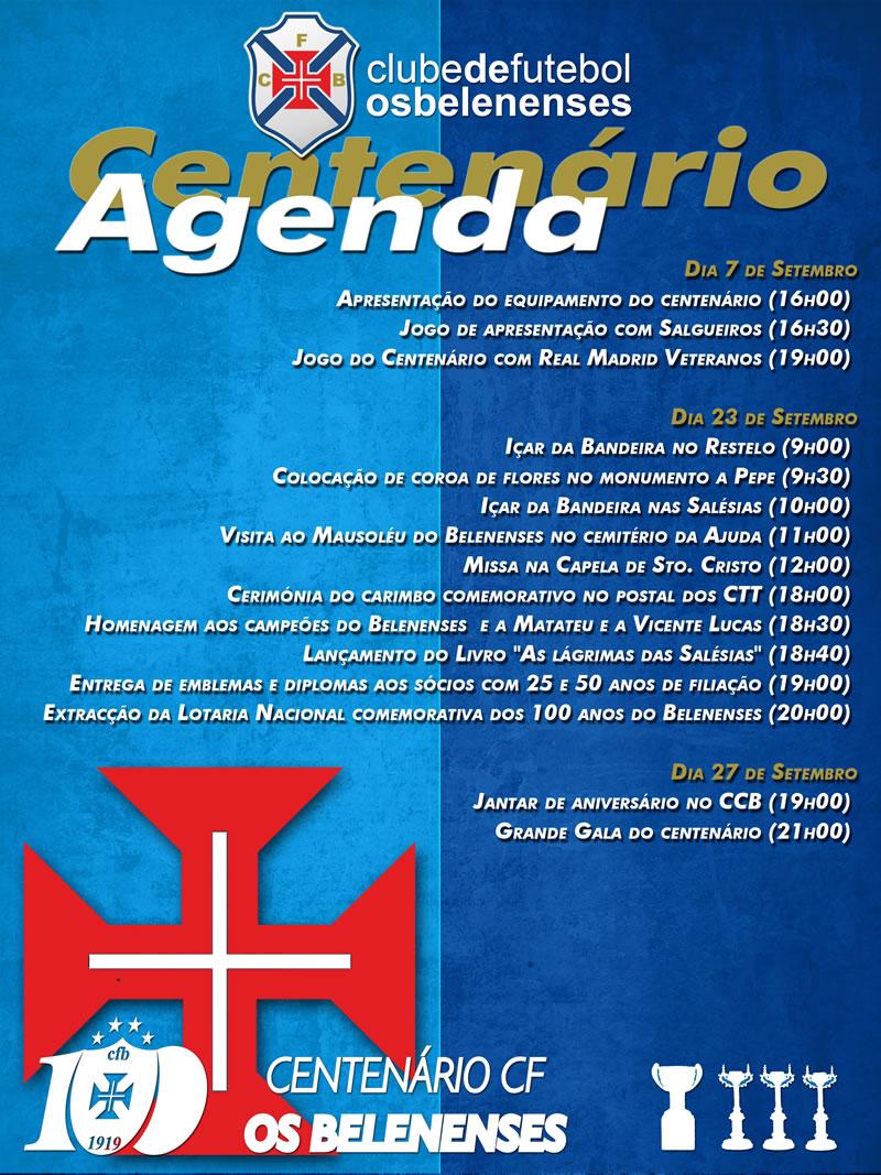 Centenário | Agenda Setembro