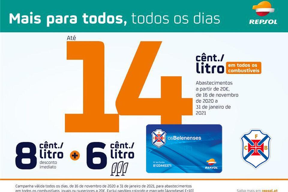 Sócios com mais vantagens Com o cartão Belenenses / Repsol