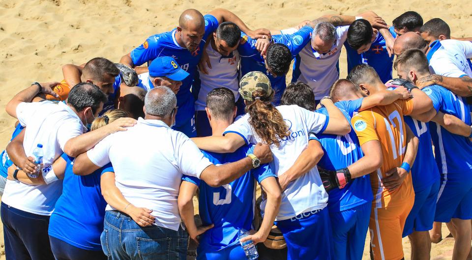 Futebol de Praia soma vitórias e avança para a Euro Winners Cup 2021